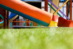 Coloured slides. Low angle view of colorful slides Stock Images