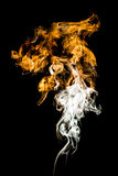 Coloured smoke. Is rising up Stock Image