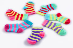 Coloured socks Stock Image