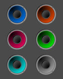Coloured speakers Royalty Free Stock Photo