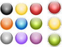 Coloured sphere. Set of coloured sphere, created with inkscape Royalty Free Illustration