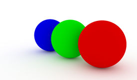 RGB spheres Royalty Free Stock Image