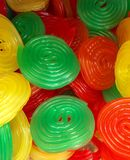Coloured Spiral Jelly Sweets Stock Images