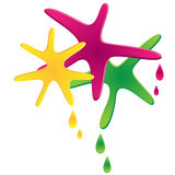 Coloured spots and drops. On a white background Stock Photos
