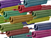 Coloured Springs 2. Coloured metal springs against a white background Royalty Free Stock Photo