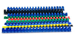 Coloured springs Stock Photography