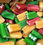 Coloured square edged sweets Stock Photos