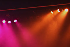 Coloured stage lights Royalty Free Stock Photos