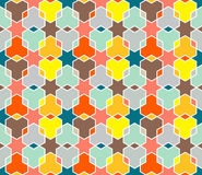 Coloured Star Pattern royalty free illustration