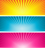 Coloured starbursts Royalty Free Stock Photo