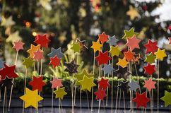 Coloured stars Royalty Free Stock Images