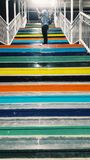 Coloured Steps stock images