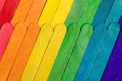 Coloured Sticks. A lot of coloured paddle pop sticks royalty free stock photography