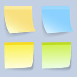 Coloured Sticky notes. On gray background.  illustration Royalty Free Stock Image