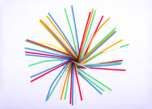 Coloured straw fan-shaped Stock Photos