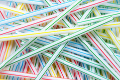 Coloured straws background Royalty Free Stock Images