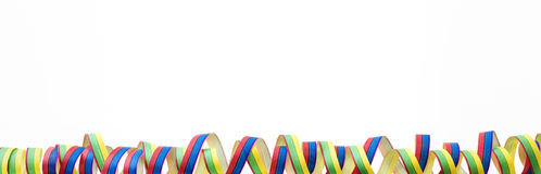 Coloured streamers Royalty Free Stock Photos