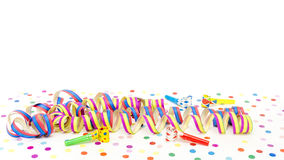 Coloured streamers Stock Photo