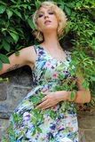 In the coloured summer dress Stock Photography