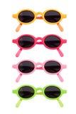 Coloured Sunglasses. Coloured pairs of sunglasses isolated on white Stock Photo