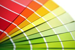 Coloured swatches Royalty Free Stock Image