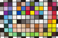 Coloured swatches card Royalty Free Stock Photo
