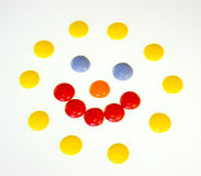 Coloured sweets Stock Images