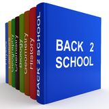 Coloured textbooks Royalty Free Stock Photography