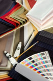 Coloured textiles Royalty Free Stock Images