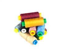 Coloured thread isolated on white background. Royalty Free Stock Images