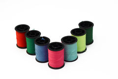 Coloured threads Royalty Free Stock Photography