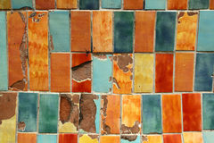 Coloured tiles in Avignon Stock Image