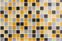 Coloured Tiles Wall Royalty Free Stock Photography