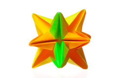 Coloured toy. On white isolated background stock photography