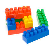 Coloured toy blocks Royalty Free Stock Photography