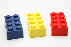 Coloured toy bricks. Used as a business concept image Stock Image