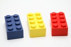 Coloured toy bricks Stock Image