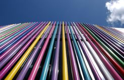 Coloured Tubes. A close up of some coloured tubes in Liverpool stock image