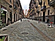 Coloured ulica w mieście Turyn fotografia stock