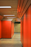 Coloured underground passage Stock Image