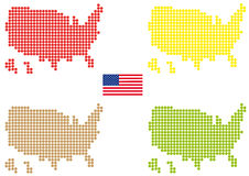 Coloured USA map Royalty Free Stock Photo