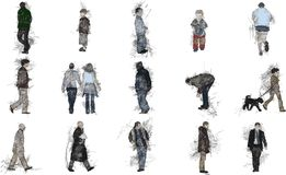Sketches of people. Coloured vector / illustration sketches of people Royalty Free Stock Images