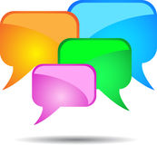 Coloured vector speech bubbles cloud Stock Image