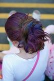 Coloured włosy Zdjęcia Stock