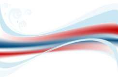 Coloured  wave on white background. Banner. Royalty Free Stock Photo