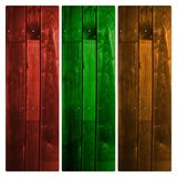 Coloured Wood material as backgrounds. And textures stock images