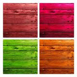 Coloured Wood material as backgrounds. And textures stock photos