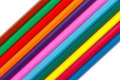 Coloured wood pencils Stock Images