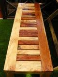 Coloured wood Stock Photo