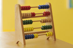 Coloured wooden abacus royalty free stock photo